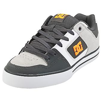 DC Shoes Pure Mens Skate Trainers in Grey Orange