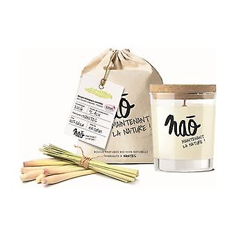 Large natural citronella scented candle 40h 200 g
