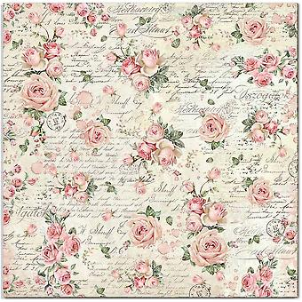 Stamperia Pink Christmas Rose Wallpaper 12x12 Inch Paper Sheets (10pcs) (SBB700)