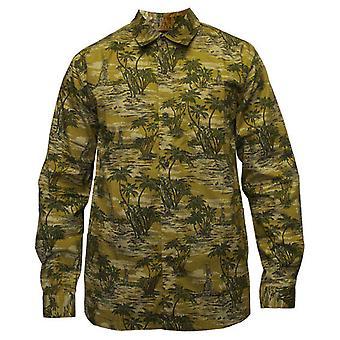 5Boro Shaolin Island Long Sleeve Shirt Green