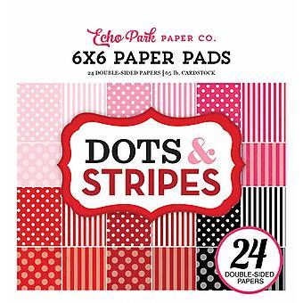 Echo Park Valentines Punkte & Streifen 6 x 6 Zoll PapierPad