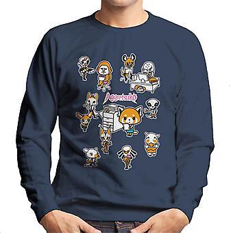 Aggretsuko Accounting Department Montage Men's Sweatshirt