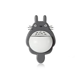 Drăguț Totoro Perete Mount Periuta de dinti Titular Sucker Box Baie Organizator