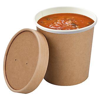 ColPac Compostable Soup Cup Lids 16oz
