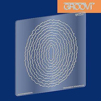 Deckle ovale de plaque de Groovi
