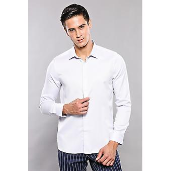 Lichtgrijs casual patroon shirt | wessi wessi