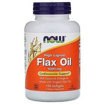 Now Foods, High Lignan Flax Oil, 1,000 mg, 120 Softgels