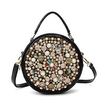 Female diamond vintage pearl design evening handbag