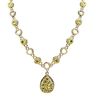 TJC Peridot and Zircon Collar Necklace 18