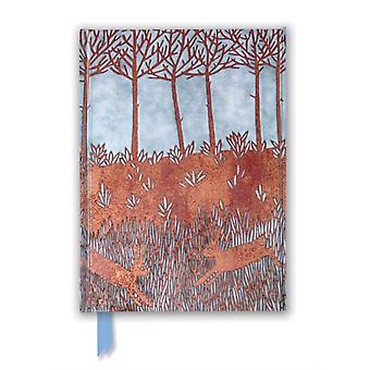 Janine Partington Copper Foil Spring Rabbits Foiled Journal by Created by Flame Tree Studio