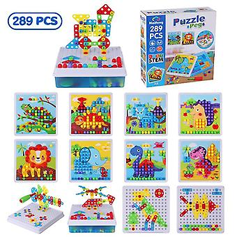 289pcs Drill Screw Group Toy Kit Nut  3d Puzzle Blocks-educational