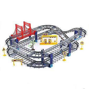 Magical Racing Educational Diy Bend Flexible Race Track - Building Block Play