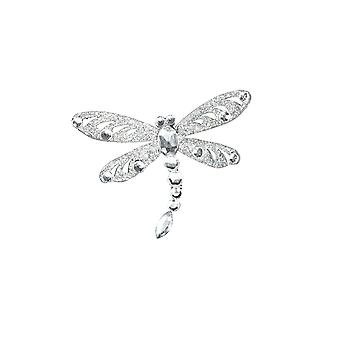Small Gisela Graham Crystal & Glitter Dragonfly Clip-On Decoration