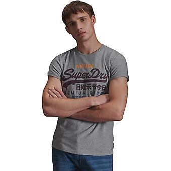 Superdry Vintage Logo Tri T-Shirt Grey 45