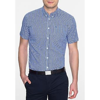 Chemise à manches courtes Terry Gingham