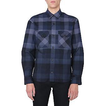 Kenzo Fa65ch5001lj77 Men's Blue Cotton Shirt