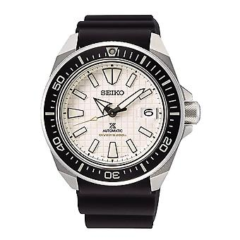 Seiko Watches Srpe37k1 Prospex Cream & Black Silicone Automatic Diver's Men's Watch
