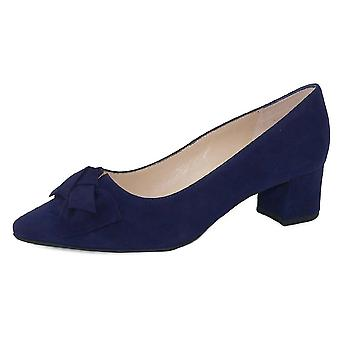 Peter Kaiser Blia-a Wide Fit Court Shoes In Notte Suede