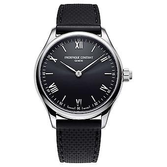 Frederique Constante Mens | Vitaliteit | Smartwatch | Zwarte wijzerplaat | Zwart rubber FC-287B5B6 Horloge