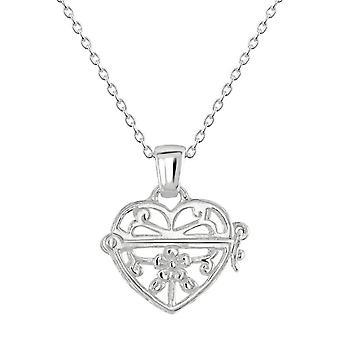 Dagg Sterling Silver filigran hjärta medaljong hänge 98986HP028