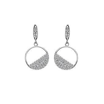 Hot Diamonds Sterling Silver Horizon Witte Topaz Circle Oorbellen DE621