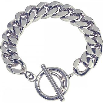 Nikki Lissoni Curb link zilveren vergulde ketting armband