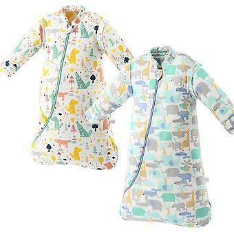 طفل العضوية كيس النوم القابلة للفصل طويلة الأكمام يمكن ارتداؤها بطانية الشتاء الدافئة ملابس الطفل الفراش لحاف