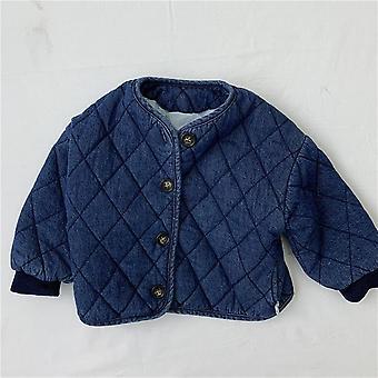Baby Kinder Denim Baumwollmantel, Lässige Mantel Jacken