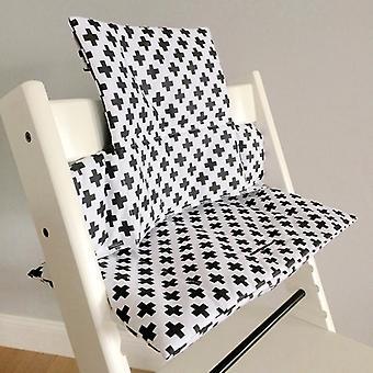 Puckdaddy Sitzkissen Antonia für Hochstuhl Stokke, Kreuz Muster
