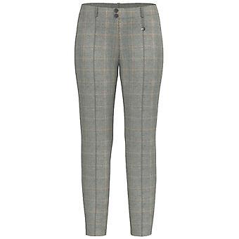 Bianca Siena Pantalones de Cheque Gris