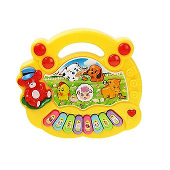 Baby Musical Toy Met Animal Sound Kids Piano Keyboard Electric Knipperen