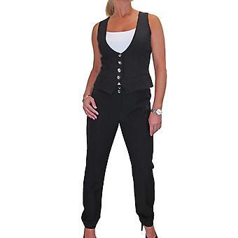 Frauen's schlanke Fit Weste Hose Anzug Set Smart Business waschbare Abend formal anzüge Arbeitsbüro 8-20