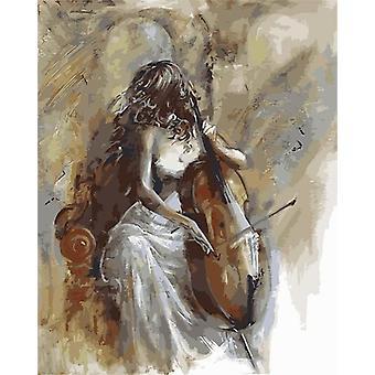 Öljymaalaus numeroittain Maali baletti tanssija Diy käsinmaalattu kangas kuva