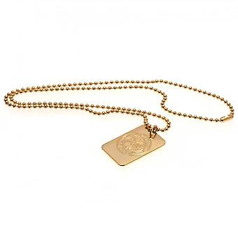 Celtic FC Gold Plated Dog Tag And Chain
