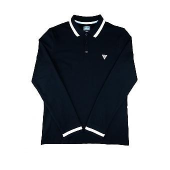GUESS Guess Polo Shirt à manches longues Noir