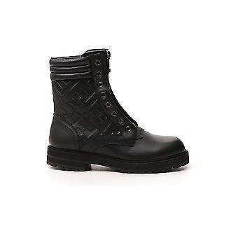 Fendi 7u1401ac7yf0abb Men's Black Leather Ankle Boots