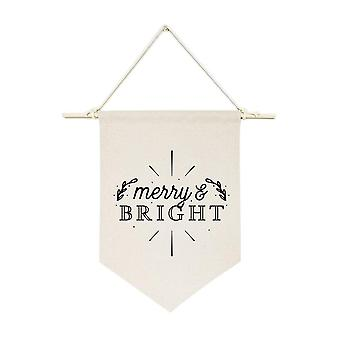 Merry And Bright Hanging Wall Banner