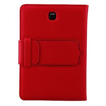 ل Galaxy Tab S2 8.0 T710 / T715 2 في 1 لوحة مفاتيح بلوتوث قابل للفصل الجلود الليتشي حقيبة الجلود مع حامل (أحمر)