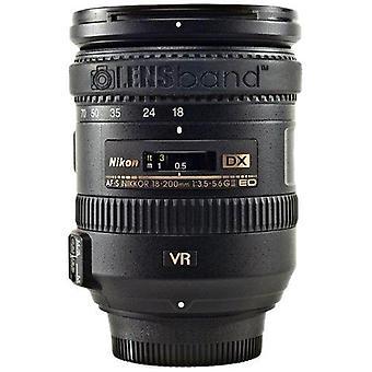 Lensband zoom objektív kúszás szűkítő - fekete
