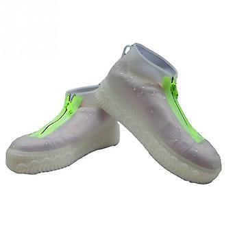1 Paar Schuhe elastische Silikon Schuh Abdeckung Reißverschluss, tragbare Regenstiefel