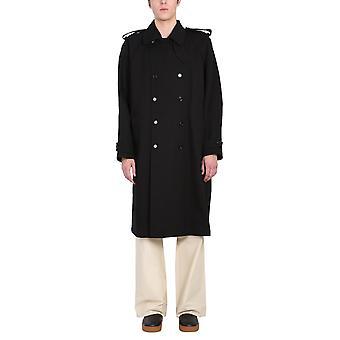 Bottega Veneta 647116v0o101000 Mænd's Black Cotton Trench Coat