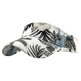 Unisex Empty Top Sun Hat Washed Canvas Visor Printed Outdoor Cap/women
