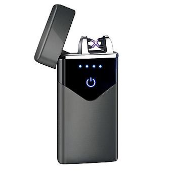 Dual Electronic Lighter Touch Fire Usb Electric Rechargeable Windproof Plasma
