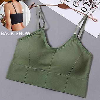 Solid Color Sexy Tank Crop Tops Women Fashion Basic Streetwear Sleeveless Cool