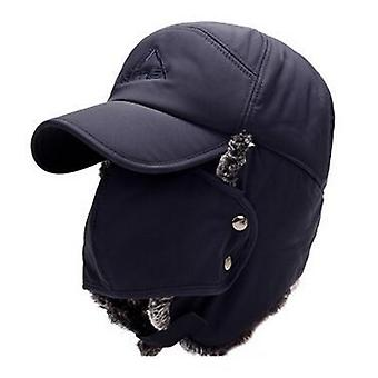 Ear Protection Face Bomber Hats & Thicker Plus Velvet Warm Woman Winter Hat,