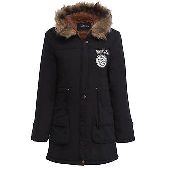 Winter Padded Cotton Wadded Jacket Long Parkas Épais Chaud Hooded Snow Outwear