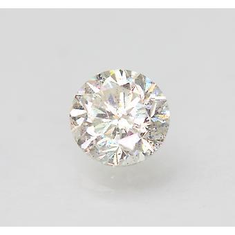 معتمد 1.24 قيراط H SI1 جولة رائعة المحسنة الطبيعية فضفاضة الماس 6.61mm