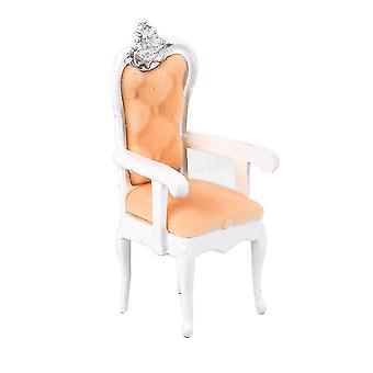 1:25 Dollhouse Miniature Vintage Retro Single Sofa Chair Model Mini Furniture