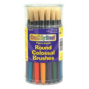 """Pennelli colossali, colori rotondi e assortiti, 7,25"""" lunghi, 30 pennelli"""
