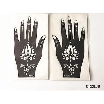 Body Art Men Women Indian Henna Pattern Beauty Waterproof Hand Reuse Tatoo